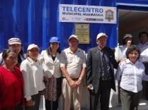 Docentes del distrito de Cuchipampa muy emocionados con la inauguración del telecentro municipal