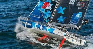 Banque Populaire VIII (Armel Le Cleac'h) looks set to be first to finish in the 2016/17 Vendee Globe Race © Team Banque Populaire