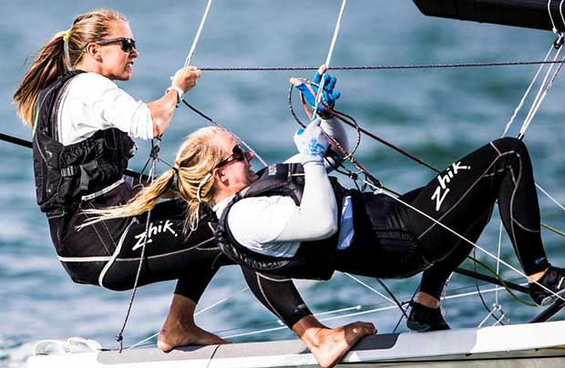 Womens 49erFX - Sailing World Cup Miami, January 2017 © Pedro Martinez / Sailing Energy / World Sailing