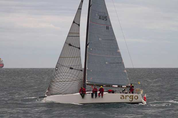 Argo settles down on the first leg of the Ibaria Race from Fremantle to Busselton. - Iberia Race © Bernie Kaaks