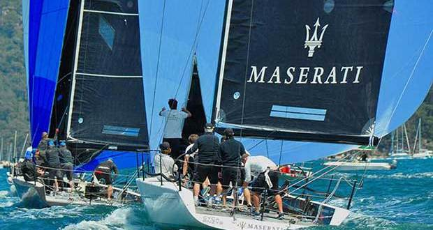 MC38 RPAYC regatta Oct 16 day 2 downwind Maserati & Dark Star © Bob Fowler