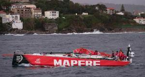 MAPFRE returns to base after her dismasting off the Spanish coast - March 30, 2017 © MAPFRE