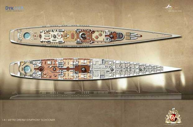 Dream Symphony World's Biggest Sailing Yacht: 141m Of Wood