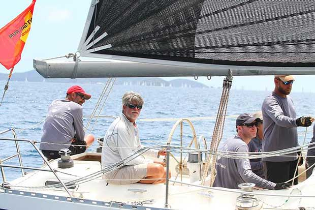 With close racing in CSA Racing 2, Commodore of the Royal BVI Yacht Club, Chris Haycraft's Sirena 38, Pipedream won class after three days of racing in the BVI Spring Regatta © BVISR / www.ingridabery.com