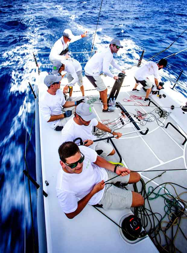 """Lloyd Thorburg's """"Fomo"""" out for a practice before Les Voiles de Saint Barth © Team FOMO"""