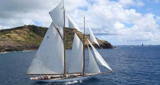 Majestic schooner, Eleonora will make a magnificent sight as she arrives in Bermuda for the America's Cup © Tim Wright / Photoaction.com http://www.photoaction.com