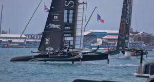 Softbank and Oracle looked solid in the trying conditions Paul Cayard http://www.cayardsailing.com