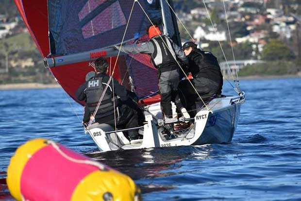Day 1 – SB20 Tasmania Mid-Winter Regatta © Jane Austin