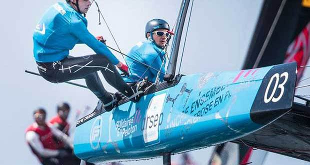 Extreme Sailing Series Madeira Islands – Day 3 – Following their successful debut in Madeira, the Flying Phantom Series is in a strong position to take on Barcelona. © Lloyd Images http://lloydimagesgallery.photoshelter.com/