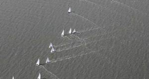 Close calls in the Brightlingsea One Design Fleet – Learning and Skills Solutions Pyefleet Week © Mandy Bines