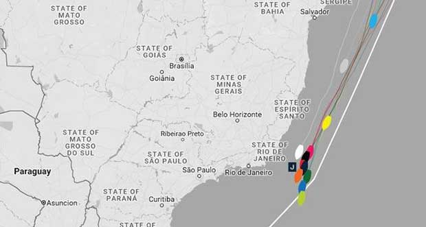 Current positions – Day 27, Race 1 – Clipper Round the World Yacht Race © Clipper Ventures