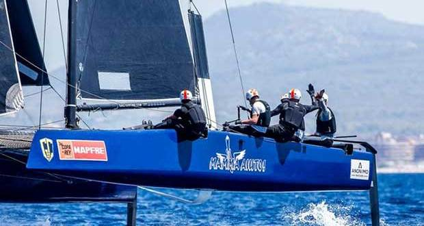 Mamma Aiuto! skippered by Japan's Naofumi Kamei, winner in Copa del Rey MAPFRE – GC32 Racing Tour © Jesus Renedo / GC32 Racing Tour