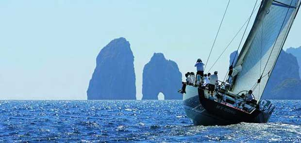 My Song prepares to tackle the Faraglioni off Capri – Regata dei Tre Golfi © Francesco Rastrelli / CRVI