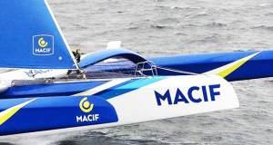 Aerial images of Francois Gabart onboard Ultim MACIF, training before the Round the Word Solo Handed Record, off Belle Ile, on October 16th © Jean-Marie LIOT