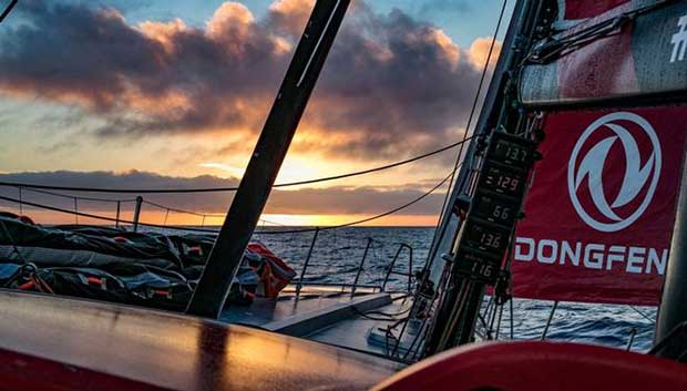 Day 14, Leg 2, Lisbon to Cape Town, on board Dongfeng – Volvo Ocean Race © Jeremie Lecaudey / Volvo Ocean Race