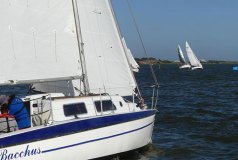 Bacchus looks up the course chasing the fleet – Goolwa Regatta Week - photo © Chris Caffin