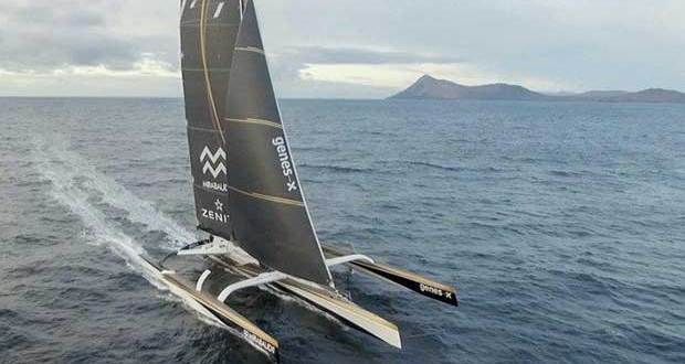Yann Guichard and Spindrift 2 at Cape Horn during their Jules Verne Trophy record attempt - photo © Eloi Stichelbaut / Spindrift racing