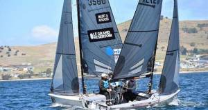 Day 4 - Le Grand Reservoice/Mazet and Assoicases and Export Roo crossing tacks – SB20 World Championship - photo © Jane Austin