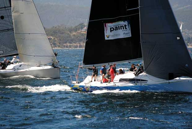 Tas Paints, Ian Stewarts' Mumm 36 is one of four Mumm 36s in the Racing Division - photo © Peter Watson