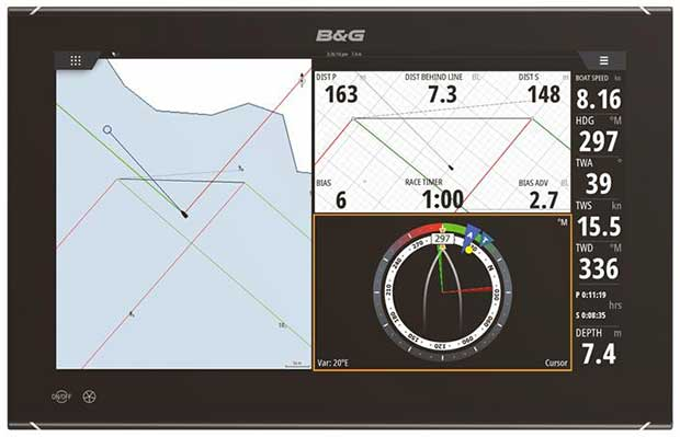 B&G new Zeus3 Glass Helm Display - photo © B&G