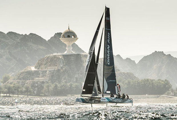 Extreme Sailing Series Act 1, Muscat 2017 - Day one - Oman Air - photo © Lloyd Images