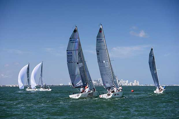 Melges 24 Class sailing at Bacardi Miami Sailing Week. - photo © Cory Silken / Miami Sailing Week