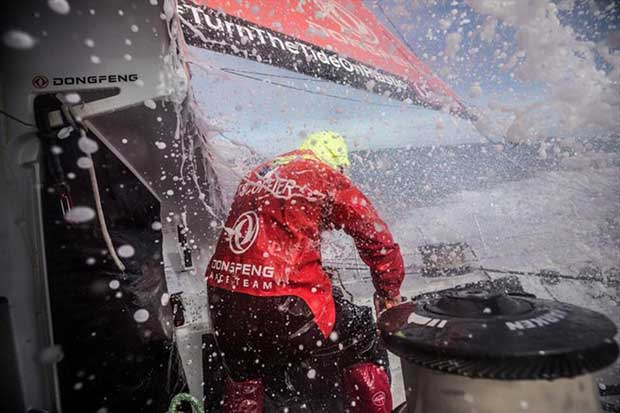 Volvo Ocean Race Leg 7 from Auckland to Itajai, day 05 on board Dongfeng. Kevin Escoffier at the pit. 22 March - photo © Martin Keruzore / Volvo Ocean Race