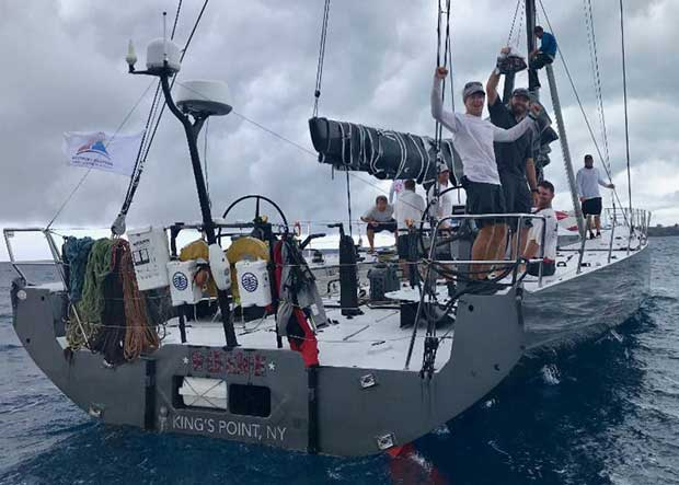 An elated crew after smashing their previous record set in the inaugural Antigua Bermuda Race last year by over 24 hours - Warrior, Volvo 70 sailed by Stephen Murray Jr. - photo © Louay Habib