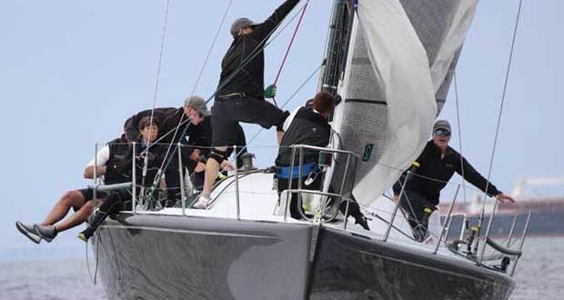 Three-time world champion skipper Alex Roepers steered Plenty to a superb score line of 1-2-1 on Day 1 of the Farr 40 North American Championship. © Farr 40 Class / Joy Sailing