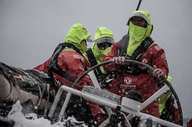 Volvo Ocean Race Leg 10, from Cardiff to Gothenburg, day 04, on board Dongfeng. Kevin Escoffier driving. © Martin Keruzore / Volvo Ocean Race