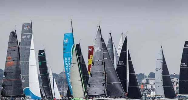 The start of the Cowes – Dinard – St Malo Race will be an impressive sight, the fleet will be in the starting area along Cowes Green and Cowes Parade from 0900 on Friday 13 July © Rick Tomlinson