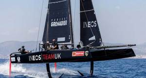 Ineos Team UK racing in the GC32 fleet on day 3 of the 37th Copa del Rey MAPFRE in Palma - photo © Nico Martinez / Copa del Rey MAPFRE