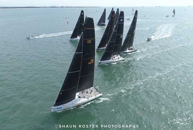 The Fast 40 fleet on day 1 of Lendy Cowes Week - photo © Shaun Roster Photography