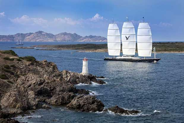 The Maltese Falcon (Corinthians Spirit Division) on day 2 of the Perini Navi Cup © Perini Navi / Borlenghi
