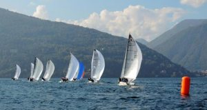 The Melges 24 fleet on Lake Maggiore. © Piret Salmistu