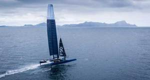 The first Foiling 50 test sails off Marsden Cove, Whangarei, Northland © Beau Outteridge