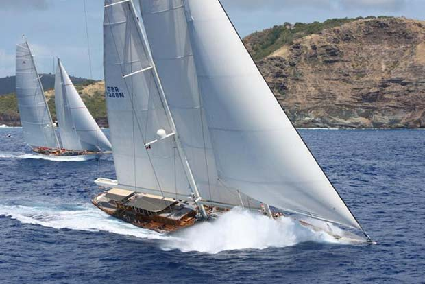 Athos and Adela at the start of the 2015 RORC Caribbean 600 - photo © Tim Wright/Photoaction.com
