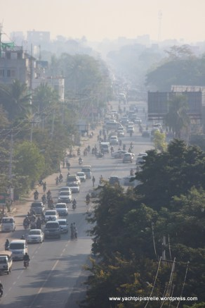 early morning traffic ... and pollution
