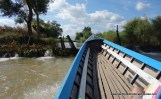 travelling upstream - negotiating one of many weirs!