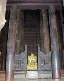 Bagaya teak monastery interior detail
