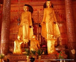 teak gilded buddha statues