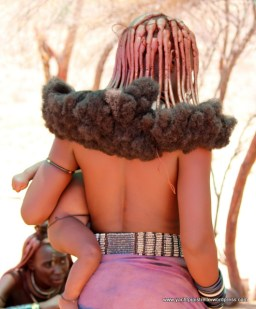 Himba hair do - braides of ochre powder mixed with fat