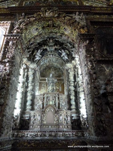 Ornate wooden altar