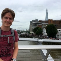 Godson Tristan with Shard in background