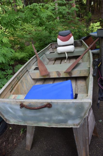 Jon Boat Minn Kota Motor Duck Boat Fishing Boat 10 Ft