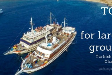 Top 5 for large groups - Turkish boat charters