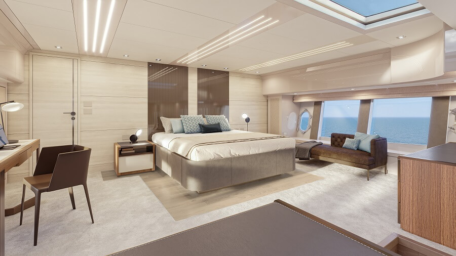 Monte Carlo Yachts, MCY, Skylounge, 105, 70, 76, Asia, Hong Kong, sold, hull one, first