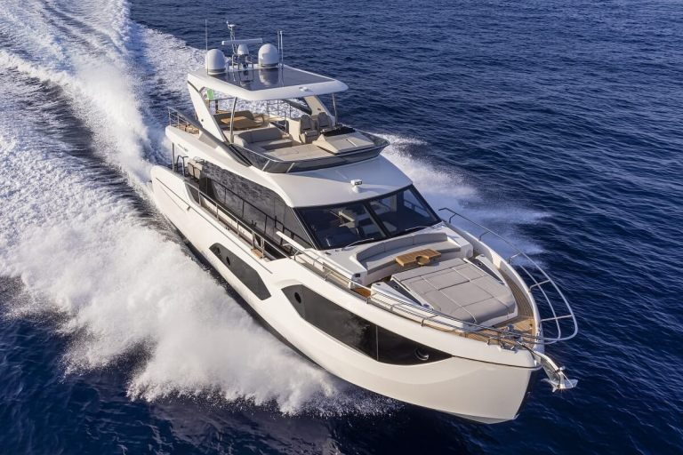 Absolute, Yachts, Boat, 60, Fly, Cannes Yachting Festival, premiere, debut, new, solar, panels, power, silence, green, Volvo Penta IPS, Cesare Mastroianni