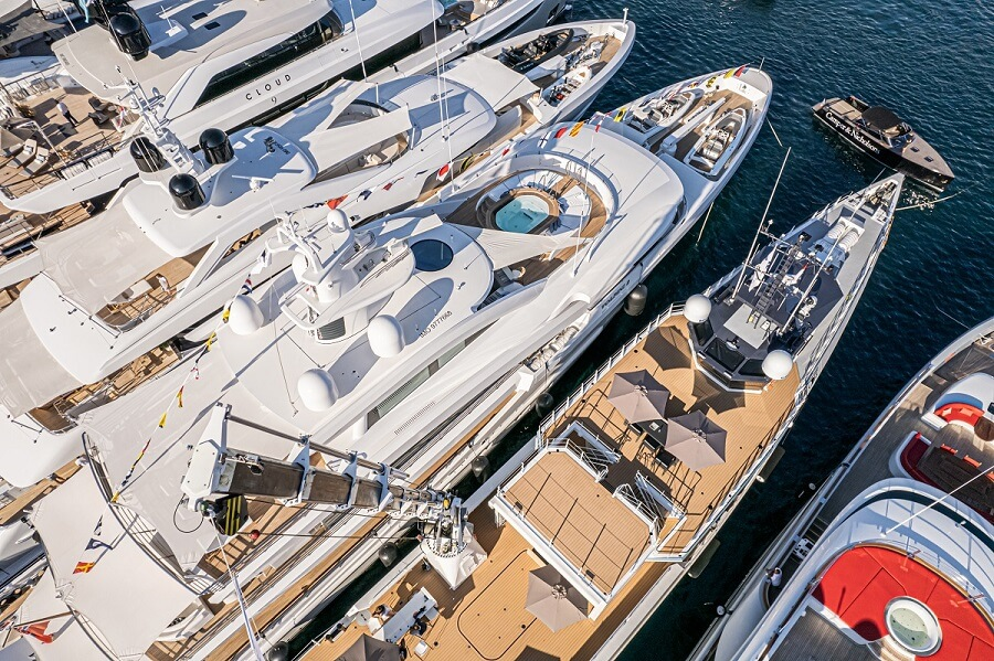 Monaco Yacht Show, Port Hercule, SYBAss, Benetti, Gaëlle Tallarida, Bluegame, Sunreef, Nobiskrug, Bilgin, Azimut, Ferretti Group, Sunseeker, Pershing, Damen, AmelsMonaco Yacht Show, Port Hercule, SYBAss, Benetti, Gaëlle Tallarida, Bluegame, Sunreef, Nobiskrug, Bilgin, Azimut, Ferretti Group, Sunseeker, Pershing, Damen, Amels