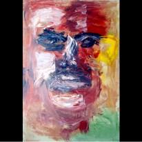 "Blood Sweat, Oil on canvas, 24""x48"" 2006"